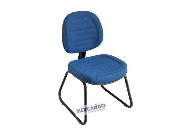 Cadeira fixa pés em arco Executiva gomada