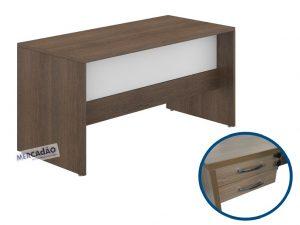 Mesa com negativo Style 2 gavetas