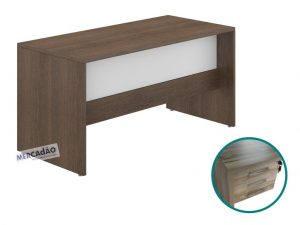 Mesa com negativo Style 3 gavetas