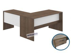 Mesa com negativo e auxiliar Style 2 Gavetas