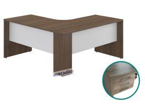 Mesa estacao Style 3 Gavetas