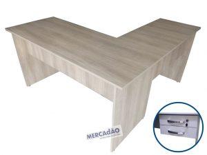 Mesa com auxiliar Domo 2 gavetas