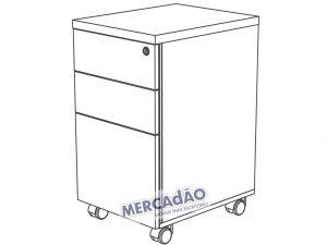 Concept Gaveteiro 3 Gavetas 25399