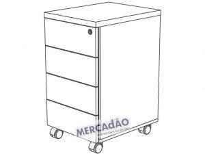Concept Gaveteiro 4 Gavetas 25400