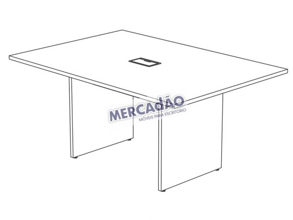 Concept Reuniao Retangular Tomada 25653
