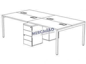 Concept Plataforma Dupla Gaveteiro Metal 25503