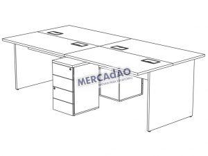 Concept Plataforma Dupla Gaveteiro Painel 25549